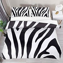 Josid Zebra-Bettbezug-Set, 3-teiliges