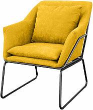 JOSIE Sessel gepolstert Beistellsessel gelb Couch