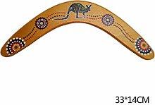 josietomy Boomerang aus Holz, handgefertigt, für