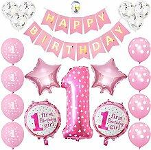 JOTOM Geburtstagsdeko Mädchen 1. Geburtstag