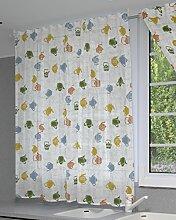 Jover Dover Fenster Voile verdeckter Schlaufe, Acryl, Gelb, 140x 220cm