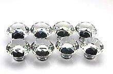 joy2buy 16x 30mm Klar Kristall Glas Möbelknöpfe