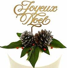 Joyeux Noel Cake Topper