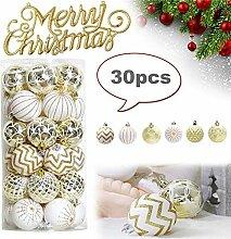 JoyFan Christbaumkugeln Ornamente 6cm, Goldener