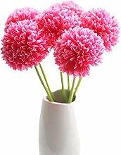 Joyfeel buy 3 Stück Künstliche Deko Blumen Unechte Blumen Künstliche Hortensie Simulations-Blume Deko-Zubehör für Zuhause/Garten/Hochzeit/Party (Rose rot)
