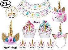 JOYHILL Einhorn Party Geburtstagsdeko Einhorn