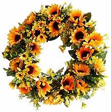 Joyibay Künstlicher Kranz Lebensechte Sonnenblume