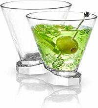 JoyJolt Aqua Vitae Martini-Glas Set 2 Stück