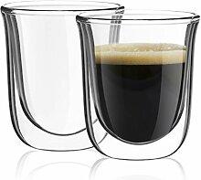 joyjolt javaah doppelwandige Espresso-Gläser, Set