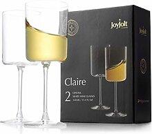 JoyJolt Weißweingläser - Claire Collection 12oz