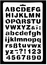 joyliveCY Buchstaben-Schablone Buchstaben Alphabet