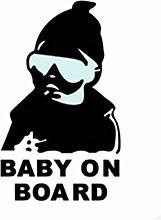 joyliveCY Sch?ne Mode Baby an Bord Warnung Aufkleber Reflektierende Wasserdichte Auto Fenster Vinylaufkleber Farbe Schwarz Wei?