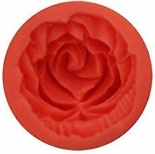 joyliveCY zufällige Farbe 3D Rose Flower Fondant