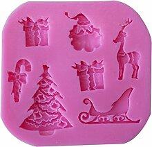 joylivecy zufällige Farbe 3D Weihnachten Motiv