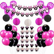 JOYMEMO Minnie Mouse Party-Deko-Set Minnie Ears