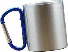 joyMerit 150ml Kaffeebecher Karabinerhaken