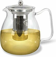JOYTASTE Teekanne Glas mit Siebeinsatz – 1.5