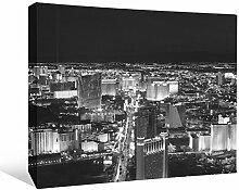 JP London bwcnv24105,1cm Dick Schwergewicht Schwarz & Weiß Galerie Wrap Leinwand Wand Art, Vegas Baby die Streifen Night Lights Tapeten, 61x 45,7cm