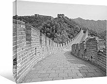 JP London bwcnv2552Monochrome 25525,1cm Dick Schwergewicht Schwarz & White Gallery Wrap Leinwand Wand Kunst auf der Mauer China Brick Road Tapeten, 61x 45,7cm