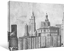 JP London bwmcnv21735,1cm Dick Schwergewicht Schwarz & White Gallery Wrap Leinwand Vintage Antik New York City Skyline Tapete, 61x 91,4cm