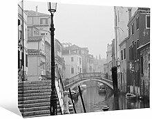 JP London bwmcnv21845,1cm Dick Schwergewicht Schwarz & White Gallery Wrap Leinwand Romantische Venedig Canal Tapeten, 61x 91,4cm