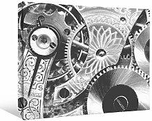 JP London bwmcnv21885,1cm Dick Schwergewicht Schwarz & White Gallery Wrap Leinwand Industrie Gear Ritzel aus Metall abstrakt Tapete, 61x 91,4cm