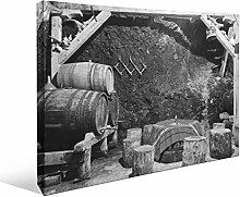 JP London bwmcnv22195,1cm Dick Schwergewicht Schwarz & White Gallery Wrap Leinwand Bootlegging Weinkeller bordeaux Tapeten, 91,4x 61cm