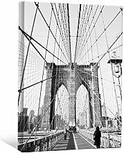 JP London bwmcnv22385,1cm Dick Schwergewicht Schwarz & White Gallery Wrap Leinwand reinigen Retro Architektonische Bridge Wallpaper, 61x 91,4cm
