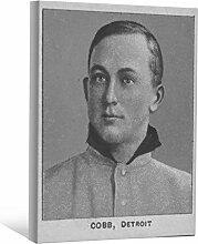 JP London bwmcnv22925,1cm Dick Schwergewicht Schwarz & White Gallery Wrap Leinwand TY Cobb Baseball-Karte Vintage Tapete, 61x 91,4cm