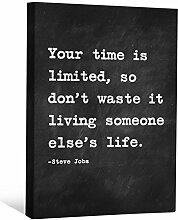 JP London cnvnsp065,1cm Dick Schwere Galerie Wrap Leinwand Motivational Inspiration Sprüche Art von Steve Jobs, 61x 45,7cm schwarz/weiß