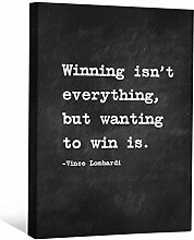 JP London cnvnsp075,1cm Dick Schwere Galerie Wrap Leinwand Motivational Inspiration Sprüche Art von Vince Lombardi, 61x 45,7cm schwarz/weiß