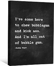 JP London cnvnsp155,1cm Dick Schwere Galerie Wrap Leinwand Motivational Inspiration Sprüche Art von Roddy Piper, 61x 45,7cm schwarz/weiß