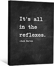 JP London cnvnsp195,1cm Dick Schwere Galerie Wrap Leinwand Motivational Inspiration Sprüche Art von Jack Burton, 61x 45,7cm schwarz/weiß