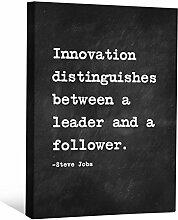 JP London cnvnsp465,1cm Dick Schwere Galerie Wrap Leinwand Motivational Inspiration Sprüche Art von Steve Jobs, 61x 45,7cm schwarz/weiß