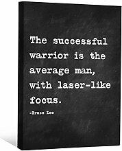 JP London cnvnsp715,1cm Dick Schwere Galerie Wrap Leinwand Motivational Inspiration Sprüche Art von Bruce Lee, 61x 45,7cm schwarz/weiß