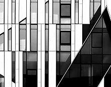 JP London lcnv1X 1096244JPL und Hans Wolfgang Hawerkamp Geschenk die Fassade Art Deco schwarz weiß Fenster Architektur Wiederherstellung 116,8cm von 86,4cm Schwergewicht Galerie Wrap Leinwand
