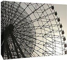JP London mcnv2187Geometrische Rad Ferris Linear Art 5,1cm Dick Schwere Galerie Wrap Leinwand, 3'x 2'