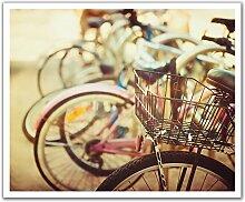 JP London pos2352ustrip schälen und Stick Abnehmbare Wandtattoo Aufkleber Wandbild Retro Fahrrad Urban Art, 24by 19.75-inch