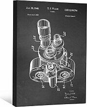 JP London scnvjsc50Retro Filmstreifen Hollywood Kamera 5,1cm Dick Vintage Kreidetafel Galerie Wrap Leinwand Patent Art, 40,6x 30,5cm schwarz/weiß
