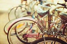 """JP London spmur2352Abziehen & Aufkleben Abnehmbare Wand Wandbild Retro Fahrrad Urban Art At """"3"""", Breite, 2'Hohe komplett abnehmbar Abziehen & Aufkleben Art Wand"""