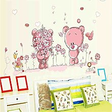 JPDP Schöne schüchterne paar rosa bären blume