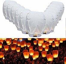 JPSOR 14 Stücke Weiße Himmelslaterne Chinesische