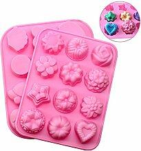 JPSOR 2 PCS Silikon Muffinform Muffin Rose Tiere