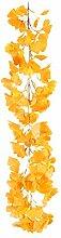 JQPFNPEI 1m Leaf Vine Simulation Rattan