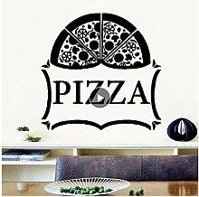 jqpwan Abnehmbare Pizza Vinyl Küche Wandaufkleber
