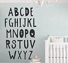Jqpwan Niedliche Alphabet Print Wall Decal,