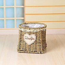 JRFBA Bambus - Korb Handgefertigte Stroh Korb
