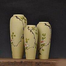 JRFBA Drei Stück Keramik Handbemalte Matte Inneneinrichtungsgegenstände Schmuck Basteln Dekoration Dekoration,B