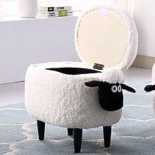 JRMU Kinder Tier Schafe Stauraum Sitzhocker,