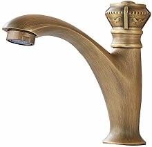 JRUIA Antik Messing Kaltwasser Waschtischarmatur